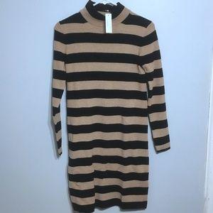 755a2329290 Lilly Pulitzer Carlotta Stretch Shift Dress J. Crew Black Tan Striped  Turtleneck Sweater Dress ...